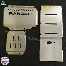 Ford Ranger PX MK1 & MK2 2012 to 2016 3 piece, 3mm Stainless Steel Bash Plates