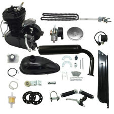 80cc 2 Stroke Motor Engine Kit Gas for Motorized Bicycle Bike Black Upgraded