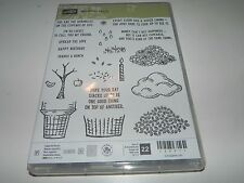 Stampin Up Photopolymer Clear Stamp Set - Sprinkles of Life Tree Leaves Flowers