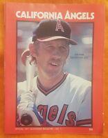 1977 CALIFORNIA ANGELS SCORECARD PROGRAM UNSCORED VOL 1 RUDI RYAN TANANA GRICH