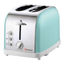 2 Slice Wide Slot Bagel Toaster  Reheat Defrost Cancel Crumb Tray Mint Green