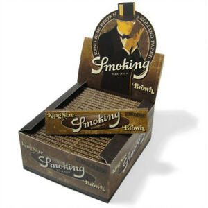 SMOKING Brown King Size Rolling Papers 50 Booklets (Full Box)