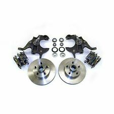 """1964 - 1972 GM A BODY 11"""" DISC BRAKE 2"""" DROP SPINDLE KIT W/ STAINLESS HOSE CHEV"""