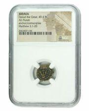 Judaea AE Herod 1st (40-4 BC) Prutah NGC (High grade)