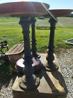 3 Matching American Store Stool Co. N Y Soda Fountain Cast Iron Seats Check Pics