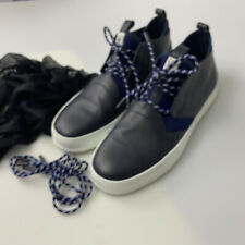 Z ZEGNA MASERATI BLUE SOFT LETHER A3005XCA18 LACE SHOES BOOTS SIZE 11 US 10 EU