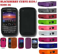 AMZER Skin Snap On Hybrid Case Screen Guard For BlackBerry Curve 8520 9300 3G
