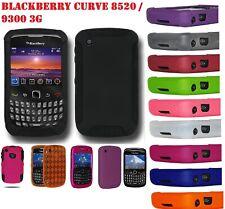 AMZER piel Snap en caso híbrido Protector de pantalla para BlackBerry Curve 8520 9300 3G