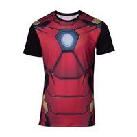 Marvel Comics Iron Man Hommes Suit Sublimation T-shirt M Multicolore