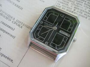 Poljot Cal. 2450 SU 7 Jewels Quartz Vintage Year 1991 NOS Watch Made in USSR