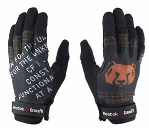 Reebock Womens Crossfit Training Gloves Black Size medium NEW