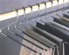Non-Slip Open Ended Hangers Coating Pants Jeans Slacks Towels Scarfs Clothing 12