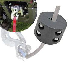 Quad Bike ATV UTV Winch Cable Hook Stop Rubber Cushion Stopper Black Universal