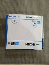 Nicor DLE4 V2 LED Recessed Downlight 3000K 4""