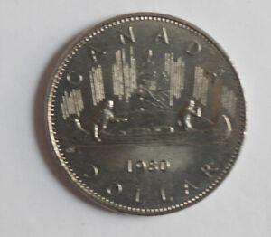 1980 Canadian dollar AU-50 condition