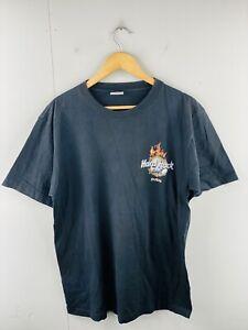 Hard Rock Cafe Dubai Men's Vintage Short Sleeve Logo T Shirt Size L Black