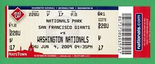 Randy Johnson 300 Win Unused Ticket 6/4/2009 Giants v Nationals