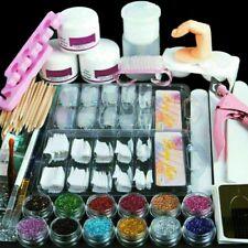 1X Pro Acrylic Nail Art Tool Kit Set Powder Nail Sticker Diy Set Pump Nail Brush
