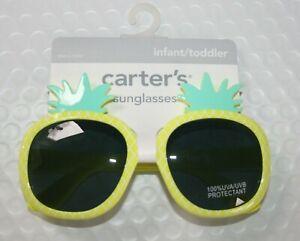 New Carter's Girls Sunglasses 100% UVA-UVB Yellow Pineapple Stylish 0-24m