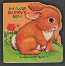 The Pudgy Bunny Board Book Shaped Ruth Sanderson Children's Baby Rabbits Easter