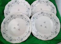 Blue Garland Dinner Plate Set of 4 Johann Haviland Bavaria Germany Platinum Trim
