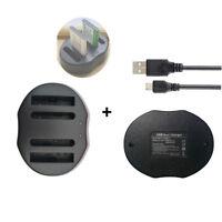 DUAL USB Charger For Olympus Li-40B Li-42B / Nikon EN-EL10 /Fuji NP-45  Battery