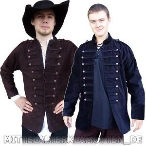 JACKE Uniform Piraten Jacke Mittelalter Gothic Sacko Militär Uniformjacke S-XXXL