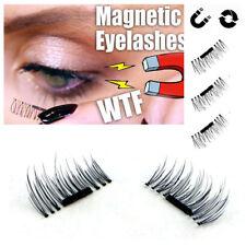 4 Pcs/2 Pair MINK 3D Magnetic False Eyelashes Natural Soft Makeup-FREE SHIPPING