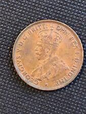 1934 Penny George V Australia Penny, Copper Penny