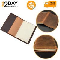 Leather Notebook Passport Book Mini Composition Pocket Size Brown Refillable
