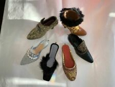 6 Miniature Shoe Ornaments w/hook on heel