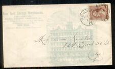 1880's NY STORAGE WAREHOUSE, HORSES & BUGGIES, 2¢ tied NEW YORK, NY, VF