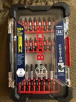 Bosch SDMS24 24Piece Impact Tough Screwdriving Custom Case System Set