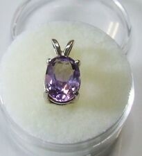 Natural earth-mined amethyst in a solid sterling silver pendant ...2.5 Carat Gem
