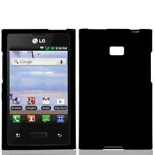 LCD + CC + Hard Cover Case for Straight Talk LG Optimus Dynamic L38c L38G Phone