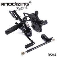 CNC Racing Rearset Rear Set Footrest Peg Pedal Fit For Aprilia RSV4 2009-2011