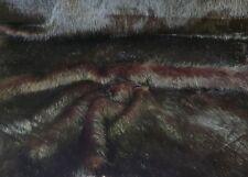 Faux fur Long Hair Cozy Faux fur fur Fabric Brown-Black Decor YW7173-382