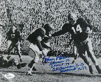 1953 NOTRE DAME Johnny Lattner signed 8x10 photo w/ '53 Heisman AUTO JSA COA