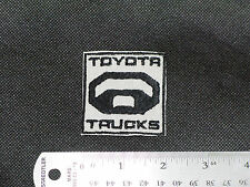 TOYOTA TRUCKS LOGO CAR BIKER TRUCKER FORMULA MECHANIC GRAY PATCH - MADE IN USA