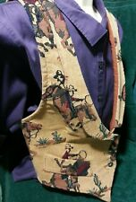 Small ROUGH RIDER Circle T Ladies Cowboy Lined Vest Rodeo,Cowgirl, Horse