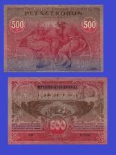 Czechoslo. 500 KORUN 1919 UNC - Reproduction