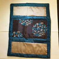 2 x  Ringley Florence Quilted Pillow Shams Chocolate & Teal One Pair