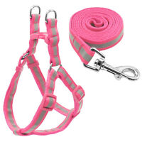 Reflective Nylon Step In Dog Harness and Leash for Small Medium Dogs Chihuahua