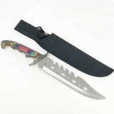 """Frost Cutlery Combat Dagger Wood Handle 16"""" Long With Gut Hooks"""