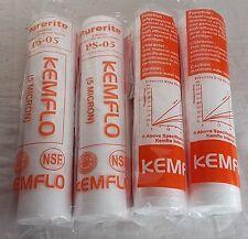 "4 Pcs 10"" Kemflo Spun Pre Filter Cartridge For RO UV Water Purifier 5 Microns"