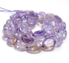 9-10MM  AMETRINE GEMSTONE PEBBLE NUGGET LOOSE BEADS 15.5""