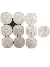 Ten 1 oz. 2018 Silver American Eagle Coins BU .999 Fine Silver