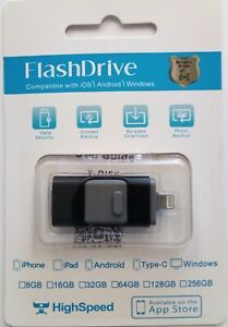 64GB 3-in-1 USB Flash Drive Memory Stick Mobile Disk for iPhone Android Windows