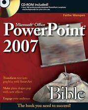 NEW PowerPoint 2007 Bible by Faithe Wempen
