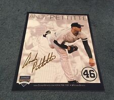 Andy Pettitte Day SGA 2015 New York Yankees Retirement #46 Card Steiner 8/23